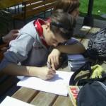 Marina che studia